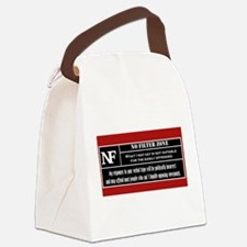 No Filter Zone Canvas Lunch Bag