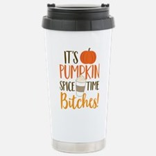 It's Pumpkin Spice Time Stainless Steel Travel Mug