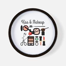 Kiss & Makeup Wall Clock