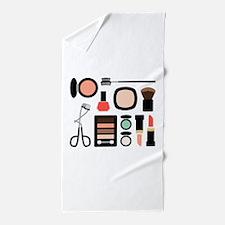 Variety Of Makeup Beach Towel