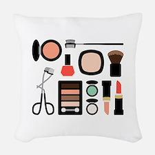 Variety Of Makeup Woven Throw Pillow
