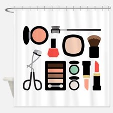 Variety Of Makeup Shower Curtain