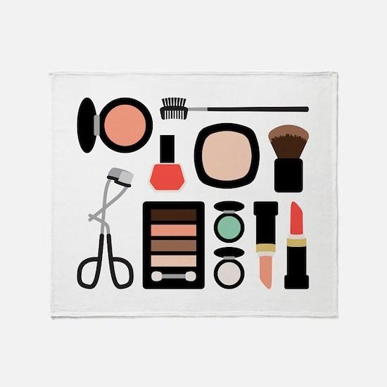 Variety Of Makeup Throw Blanket