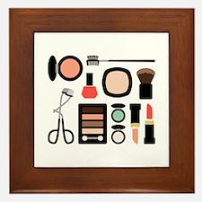 Variety Of Makeup Framed Tile