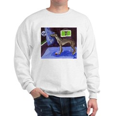 GREYHOUND sees smiling moon D Sweatshirt