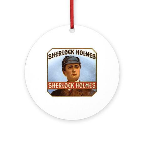 """Sherlock Holmes"" Round Ornament"