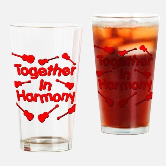Red Ukulele Drinking Glass
