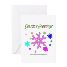 Pink Ribbon Snowflake Greeting Card
