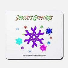 Purple Ribbon Snowflake Mousepad