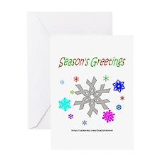 Grey Ribbon Snowflake Greeting Card