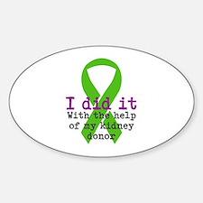 I Did It Sticker (Oval)