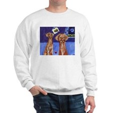 Whimsical Vizslas Design Sweatshirt
