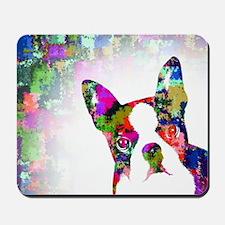 Dog 135 boston terrier Mousepad