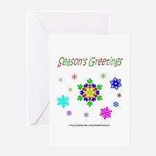 Autism Puzzle Snowflake Greeting Card