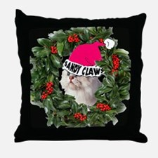 SANDY CLAWS CHRISTMAS Throw Pillow