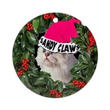 SANDY CLAWS CHRISTMAS Ornament (Round)