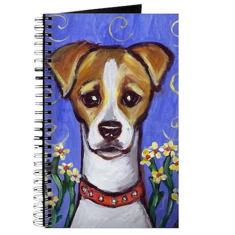 Jack Russell w Flowers Design Journal