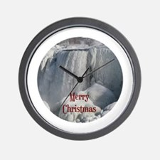 Niagara Falls Merry Christmas Wall Clock