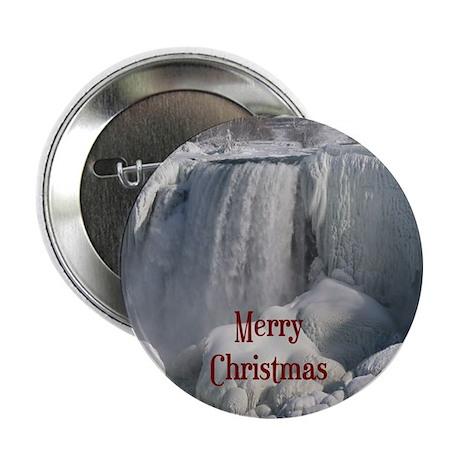 "Niagara Falls Merry Christmas 2.25"" Button (10 pac"