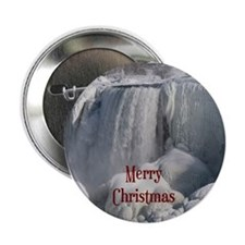 "Niagara Falls Merry Christmas 2.25"" Button"