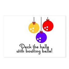 BowlingChick Deck the Halls Postcards (Package of