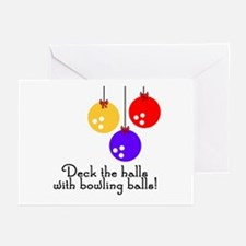 BowlingChick Deck the Halls Greeting Cards (Pk of