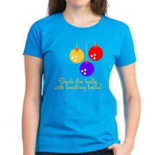 BowlingChick Deck the Halls Tee