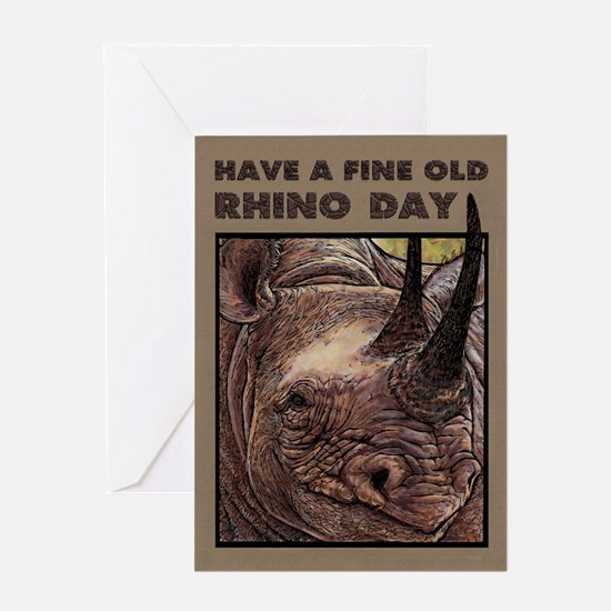 Rhino Father's Day Greeting Cards