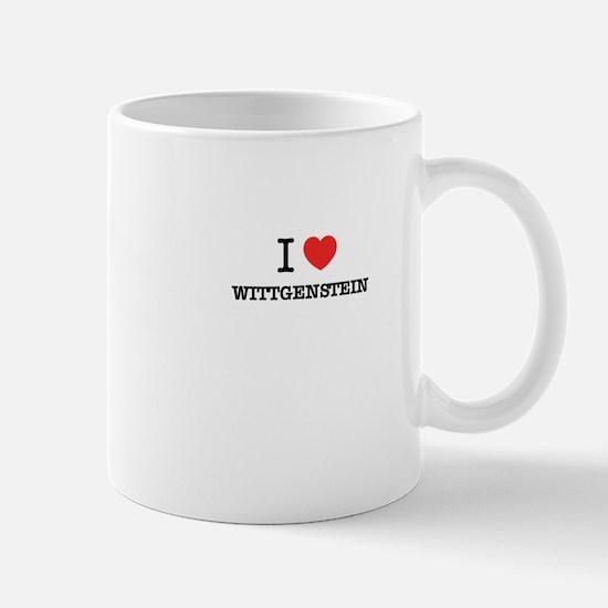 I Love WITTGENSTEIN Mugs