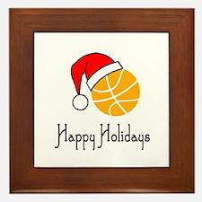 BasketballChick's Happy Holidays Framed Tile