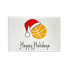 BasketballChick's Happy Holidays Rectangle Magnet