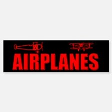 Flying Airplanes Bumper Bumper Bumper Sticker