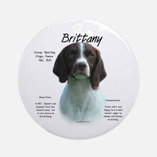 Brittany (liver) Round Ornament