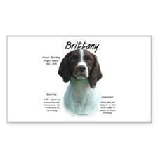 Brittany (Liver) Rectangle Decal