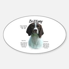 Brittany (Liver) Oval Decal