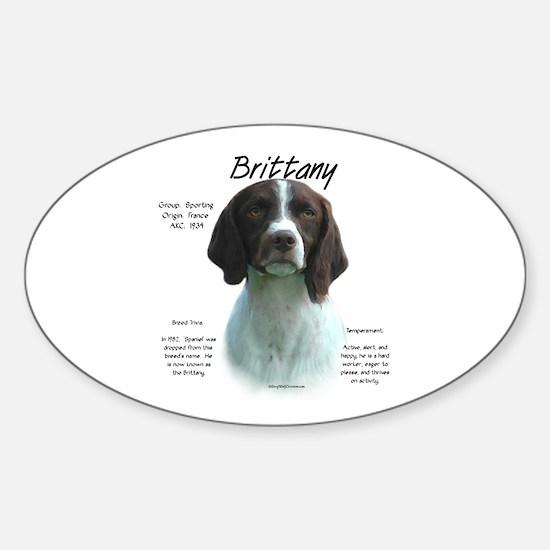 Brittany (liver) Sticker (Oval)