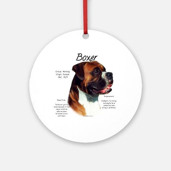 Boxer (natural) Round Ornament