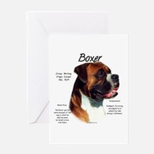 Boxer (natural) Greeting Card