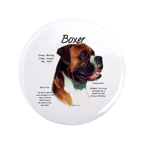 "Boxer (natural) 3.5"" Button (100 pack)"