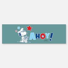 Snoopy AHOY Full Bleed Bumper Bumper Bumper Sticker