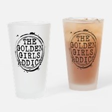 The Golden Girls Addict Stamp Drinking Glass