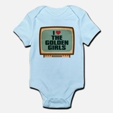 Retro I Heart The Golden Girls Infant Bodysuit