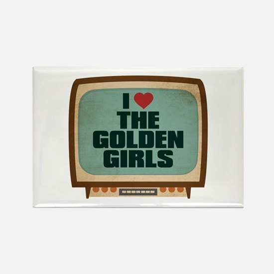 Retro I Heart The Golden Girls Rectangle Magnet