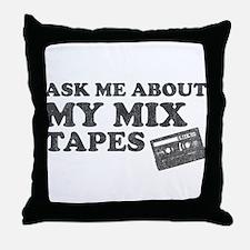 Mix Tapes Throw Pillow