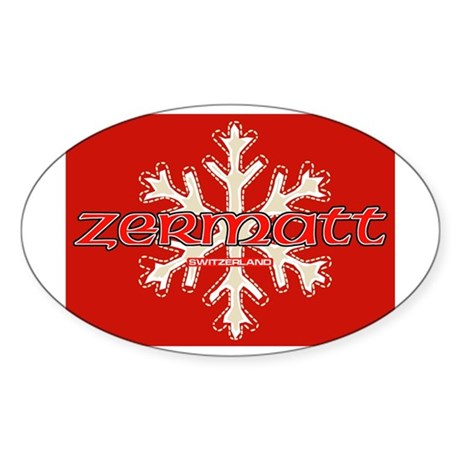 red snow Oval Sticker
