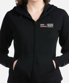 Firefighter: Proud Mom (Black F Women's Zip Hoodie