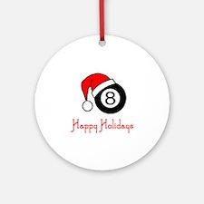 PoolChick Happy Holidays Ornament (Round)