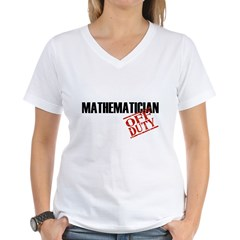 Off Duty Mathematician Shirt