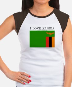 Zambia Women's Cap Sleeve T-Shirt
