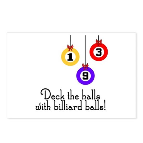 PoolChick Deck the Halls Postcards (Package of 8)